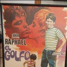Cartel original enmarcado de la pelicula de RAPHAEL EL GOLFO 1968