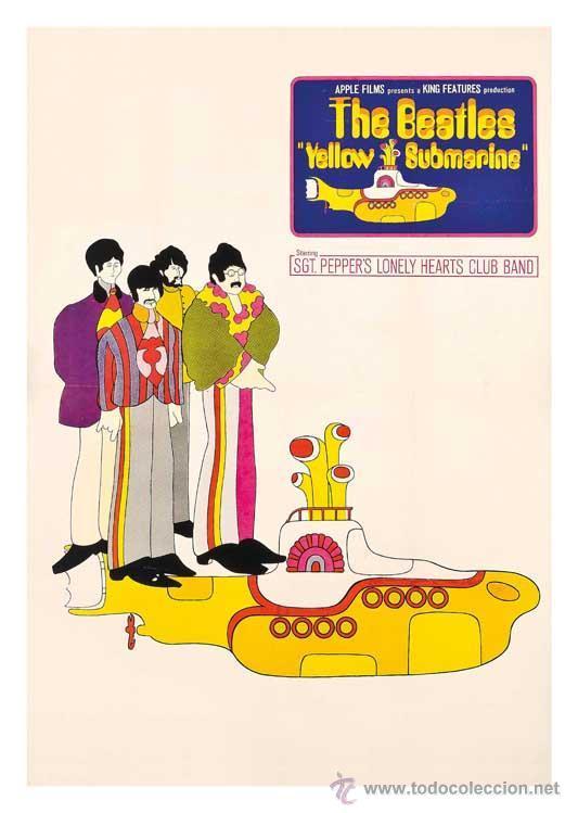 THE BEATLES YELLOW SUBMARINE. LÁMINA CARTEL DE 45 X 32 CMS. (Cine - Posters y Carteles - Musicales)