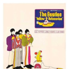 Cine: THE BEATLES YELLOW SUBMARINE. LÁMINA CARTEL DE 45 X 32 CMS.. Lote 95267411