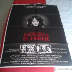 Cine: ANTIGUO ESCASO POSTER CARTEL CINE PELICULA FILM EXORCISTA II EL HEREJE LINDA BLAIR RICHARD BURTON ID. Lote 51186088