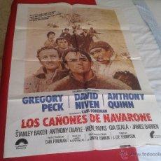 Cine: ANTIGUO ESCASO POSTER CARTEL CINE PELICULA FILM LOS CAÑONES DE NAVARONE GREGORY PECK ANTHONY QUINN D. Lote 51219079