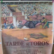 Cine: TARDE DE TOROS 2 HOJAS 140X100. Lote 51464176