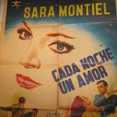 Cine: CADA NOCHE UN AMOR CARTEL MÉXICO LA DAMA DE BEIRUT SARA MONTIEL LADISLAO VADJA. Lote 51479494
