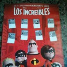 Cine: CARTEL CINE PELÍCULA LOS INCREÍBLES EN BUEN ESTADO GENERAL. Lote 51494868