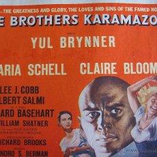 Cine: LOS HERMANOS KARAMAZOV LOBBY CARD ORIGINAL ESTADOS UNIDOS YUL BRYNNER MARIA SCHELL . Lote 51526073
