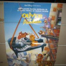 Cine: OLIVER Y SU PANDILLA WALT DISNEY POSTER ORIGINAL 70X100 Q. Lote 51530526