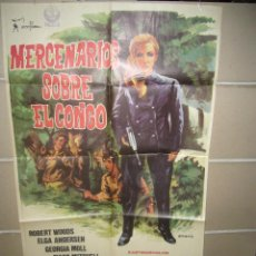 Cine: MERCENARIOS SOBRE EL CONGO ELGA ANDERSEN ROBERT WOODS POSTER ORIGINAL 70X100 YY(1173) . Lote 51540601