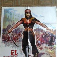 Cine: EL HIJO DEL CAID. POSTER ESTRENO 100X70. GORDON SCOTT. Lote 51548991