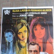 Cine: CHICAS DE CLUB. POSTER ESTRENO 100X70. ELISA LAGUNA, FERNANDO REY. Lote 51549187