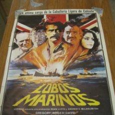 Cine: CARTEL ORIGINAL CINES. LOBOS MARINOS. . Lote 51600301