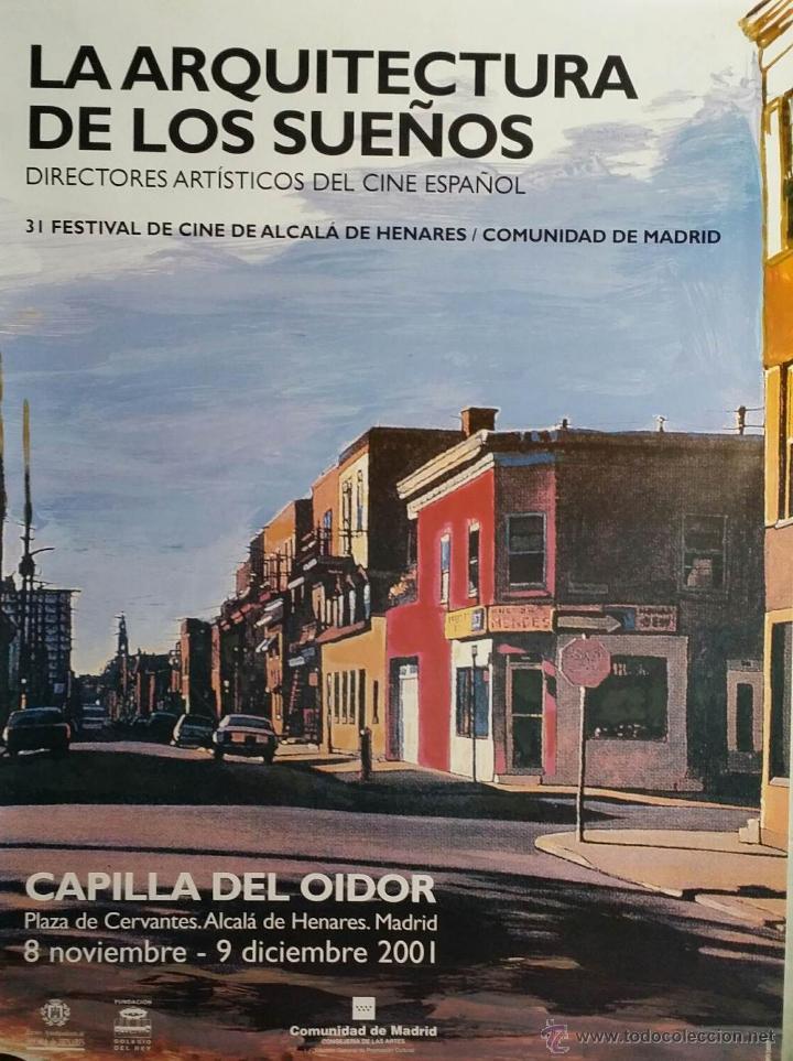 CARTEL LA ARQUITECTURA DE LOS SUEÑOS (JORGE GOROSTIZA) / FESTIVAL DE CINE DE ALCALÁ DE HENARES, 2001 (Cine - Posters y Carteles - Documentales)