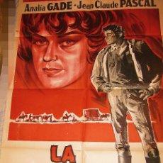 Cine: LA ENCRUCIJADA CARTEL ORIGINAL ARGENTINA ANALÍA GADÉ JEAN CLAUDE PASCAL ALFONSO BALCAZAR. Lote 51602077