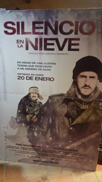 DIVISIÓN AZUL-CARTEL 2MX1,5M PELÍCULA SILENCIO EN LA NIEVE (Cine - Posters y Carteles - Bélicas)