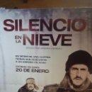 Cine: DIVISIÓN AZUL-CARTEL 2MX1,5M PELÍCULA SILENCIO EN LA NIEVE. Lote 51652421