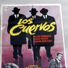 Cine: LOS CUERVOS JULIO COLL 1962 CARTEL ORIGINAL ESTRENO 70 X 100 DISEÑO MAC DIFICIL ARTURO FERNANDEZ. Lote 51710652