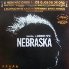 Cine: NEBRASKA CARTEL DEL FILM. Lote 51736213