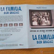 Cine: LA FAMILIA BIEN GRACIAS DVD. Lote 51797738