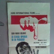 Cine: POSTER ITALIANO DE LA PELICULA--LA CLASSE OPERAIA VAN IN PARADISO 68X33. Lote 51802070