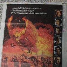 Cine: CARTEL CINE, HINDENBURG. GEORGE C.SCOTT, ANNE BANCROFT. AÑO 1976.. Lote 51811950