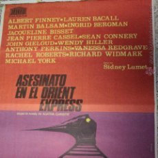 Cine: ASESINATO EN EL ORIENT EXPRESS AGATHA CHRISTIE FINNEY CONNERY POSTER ORIGINAL 70X100 ESTRENO. Lote 51811981