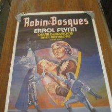 Cine: ROBIN DE LOS BOSQUES. CARTEL ORIGINAL DE LA REPOSICION EN CINES. 100X70 CM. ROBIN HOOD.. Lote 51814136