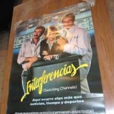Cine: INTERFERENCIAS. CARTEL ORIGINAL ESTRENO EN CINES. 100 X 69 CM. Lote 51814356