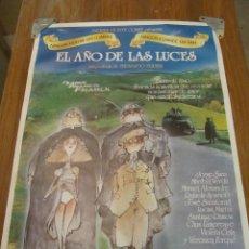Cinema: EL AÑO DE LAS LUCES. CARTEL ORIGINAL DE ESTRENO EN CINES. JORGE SANZ. MARIBEL VERDU.. Lote 51917210