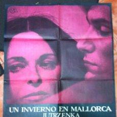 Cine: UN INVIERNO EN MALLORCA LUCIA BOSE JAIME CAMINO POSTER ORIGINAL ESTRENO 70X100. Lote 51934592