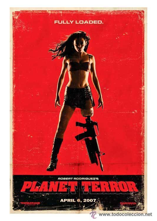 LÁMINA POSTER PLANET TERROR, FULLY LOADED. CARTEL DE CINE. 45 X 32 CMS (Cine - Posters y Carteles - Ciencia Ficción)