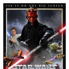 Cine: LÁMINA POSTER STAR WARS, LA AMENAZA FANTASMA 3D. CARTEL DE CINE. 45 X 32 CMS.. Lote 146187890