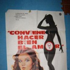 Cine: CARTEL CINE CONVIENE HACER BIEN EL AMOR . Lote 52007086