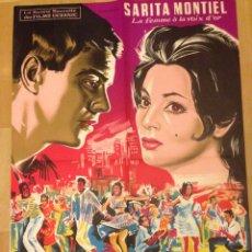 Cine: CARTEL POSTER FRANCES DE SAMBA .SARA MONTIEL. Lote 52125683