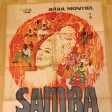 Cine: CARTEL POSTER MEXICANO DE SAMBA.SARA MONTIEL. Lote 195439642