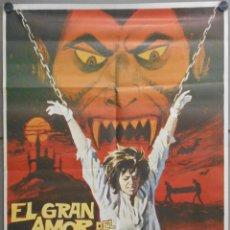 Cine: QQ18D EL GRAN AMOR DEL CONDE DRACULA PAUL NASCHY POSTER ORIGINAL 70X100 ESTRENO. Lote 97782219