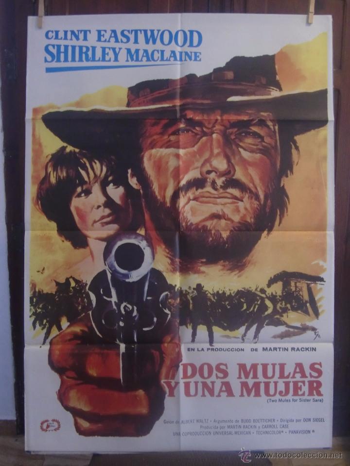 Cartel Cine Orig Dos Mulas Y Una Mujer 1969 Vendido En Venta Directa 52351223