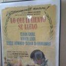 Cine: CARTEL ORIGINAL, LO QUE EL VIENTO SE LLEVÓ 1961. Lote 52388972