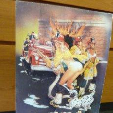 Cine: CURIOSO GRAN CARTEL DE PIE PELICULA PARQUE BOMBEROS FIREHOUSE 1987 EEUU CARTON TROQUELADO CINE. Lote 52545303