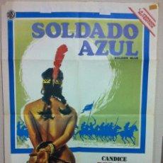 Cine: SOLDADO AZUL PETER STRAUSS CANDICE BERGEN POSTER ORIGINAL 70X100. Lote 52623217
