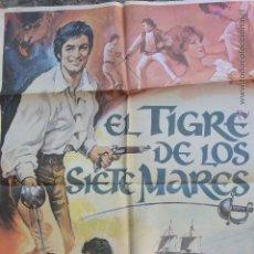 Cine: CARTEL CINE EL TIGRE DE LOS 7 MARES. Lote 52633648