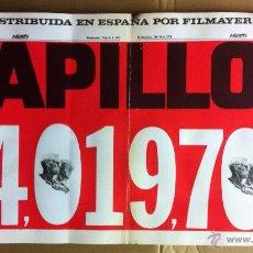 Cinema: PAPILLON 24,019,708 CARTEL CINE PEQUEÑO 54X30 CM ORIGINAL. Lote 52635754