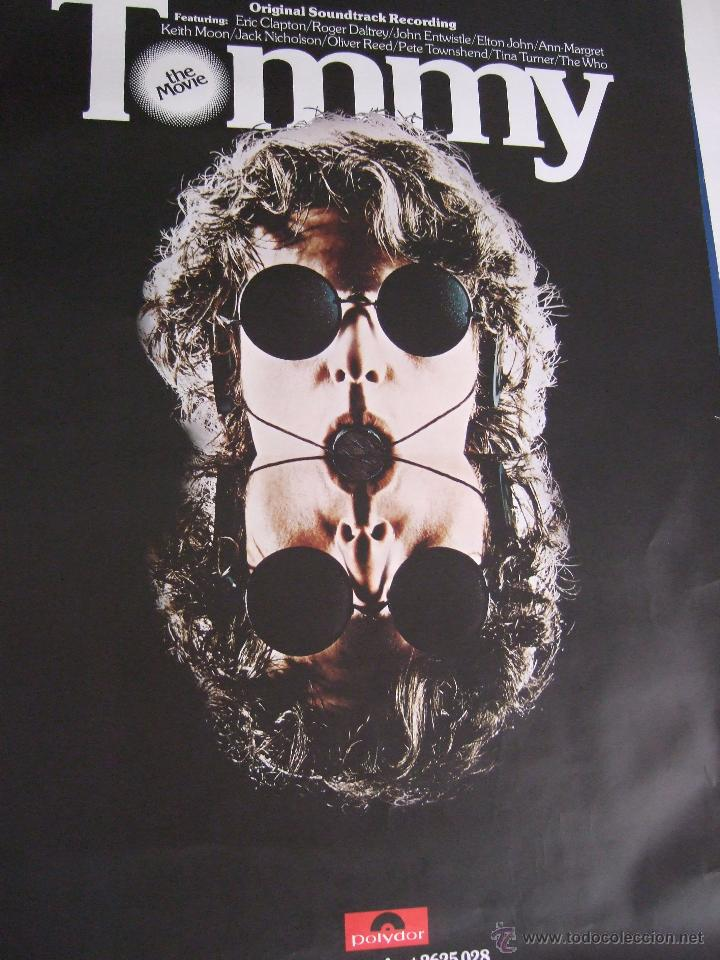 POSTER.FILM PELÍCULA TOMMY.84 X 60.THE WHO,CLAPTON,TINA TURNER... (Cine - Posters y Carteles - Musicales)