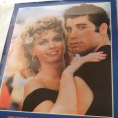 Cine: IMPECABLE POSTER ORIGINAL DE LA PELÍCULA GREASE.1978 .87,5 X 61,5 CM. Lote 52652368