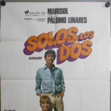 Cine: WI58 SOLOS LOS DOS MARISOL SEBASTIAN PALOMO LINARES TOROS POSTER ORIGINAL 70X100 ESTRENO. Lote 52654384