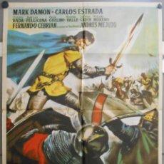 Cine: WI52 PEDRO EL CRUEL MARK DAMON RADA RASSIMOV ALBERICIO POSTER ORIGINAL 70X100 ESTRENO. Lote 52654707