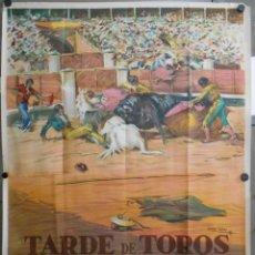 Cine: WI47 TARDE DE TOROS ANTONIO BIENVENIDA DOMINGO ORTEGA POSTER ORIGINAL 100X140 ESTRENO LITOGRAFIA. Lote 52655567