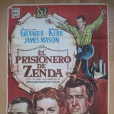 Cine: CARTEL CINE, EL PRISIONERO DE ZENDA, STEWART GRANGER, DEBORAH KERR, 1967, C745. Lote 52716491