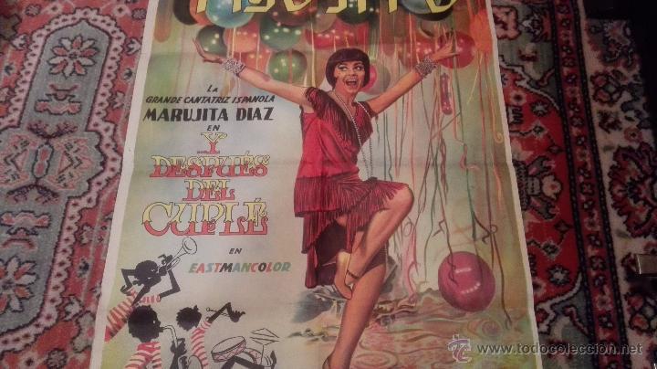 Cine: CARTEL DE CINE- Y DESPUES DEL CUPLE. Con Marujita Díaz. Versión extranjera( idioma??) - Foto 2 - 52751271