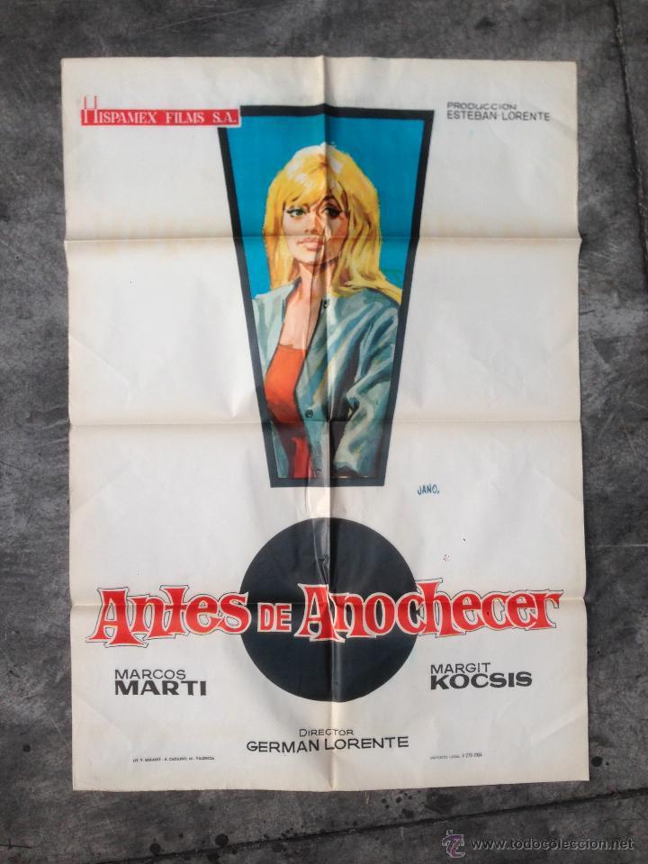 poster original antes de anochecer german lor - Comprar Carteles y ...