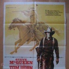 Cine: CARTEL CINE, TOM HORN, STEVE MC QUEEN, 1980, C779. Lote 52801825