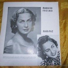 Cine: FOTO DE MARUCHI FRESNO. REVERSO TYRONE POWER. REVISTA HORIZONTE . 32 X 29 *. Lote 52868812